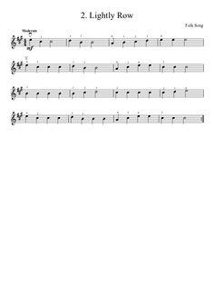 Suzuki Violin Method V.1 - 2. Lightly Row   MuseScore.com