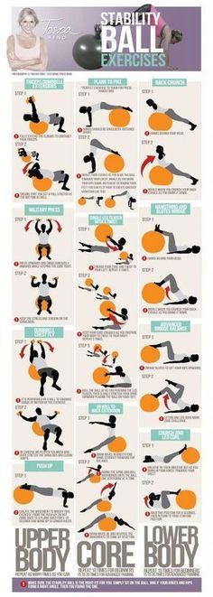 Gym & Entraînement : STABILITY (EXERCISE BALANCE SWISS FITNESS ) BALL EXERCISES from howtolosew