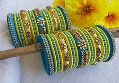 Silk Thread Bangles Design, Silk Thread Necklace, Thread Jewellery, Beaded Jewellery, Boho Jewelry, Kundan Bangles, Silk Bangles, Bridal Bangles, Bangles Making