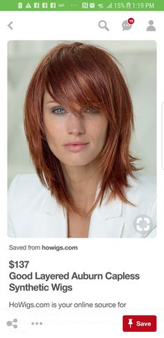 Synthetic Wigs, Auburn, Advent, Hair Cuts, Hair Beauty, Inspiration, Style, Chic Haircut, Haircuts