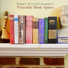 Harry Potter's Library: Printable Book Spines