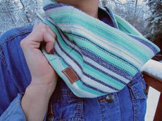 Hand Woven Short Cowl by BlueBirdBabeBoutique on Etsy