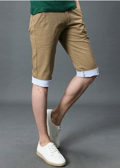 Wholesale Casual & Fashionable Middle Length Men Short Pants----Khaki top dresses