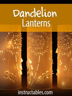 Magical dandelion paper lanterns that are perfect for a wedding. (You'll also upcycle some plastic water bottles, while you're at it!)