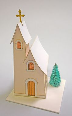 Glitter Houses: Chapel Assembly Instruction  Karin Corbin's tutorial http://glitterhouses.blogspot.com/