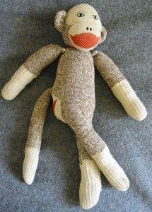 Винтажные носочные обезьянки, сделанные до 1992 года