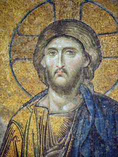 Christ Pantocrator Mosiac Upper Gallery Hagia Sophia Greeting Card for Sale by Taiche Acrylic Art Byzantine Icons, Byzantine Art, Religious Icons, Religious Art, Sainte Sophie, Christ Pantocrator, Jesus E Maria, Statues, Mosaic Portrait