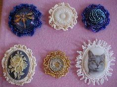 Beaded cabochons