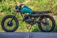 """""""Behold, Our latest build, #RVLT10 the base bike was a beat-down Kawasaki #KE100 that has seen better days. But that didn't deter us because we know that…"""" @revoltcycles"""