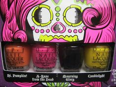Painting Rainbows: OPI Halloween Collection So So Skullicious