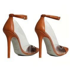Stilettos Berta vinilo piel marrón MAS34 http://www.mas34shop.com/tienda/categoria/salones/