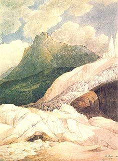 Francis Towne - The Source of the Arveiron: Mont Blanc in the Background, 1781