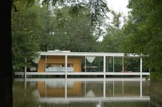 Casa Farnsworth - Mies van der Rohe Crecida Río 2