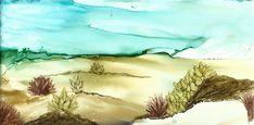 Alcohol Ink Art, Watercolor Art, Color Pop, Deserts, Hand Painted, Painting, Etsy, Colour Pop, Watercolor Painting