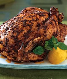 Roasted Organic Chicken with Moroccan Spices     Bon Appétit  | January 2005       Read More http://www.epicurious.com/recipes/food/views/Roasted-Organic-Chicken-with-Moroccan-Spices-231437#ixzz1e2Vl1I6b