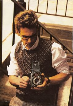 James Franco with Rolleiflex