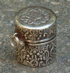 Antique Sterling Silver Thimble Holder circa 1880