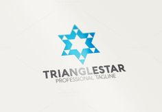 Triangle Star Logo by Esse Logo Studio on Creative Market