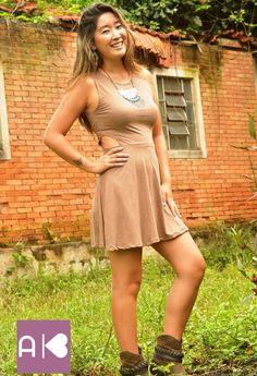 Vestido suede com bota!