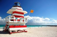 TED red on Lifeguard tower in South Beach