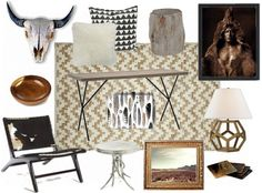 I love the pairing of traditional southwest and modern, geometric furniture and accessories