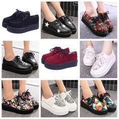Creepers Shoes plus size 35-41 Woman fashion casual shoes creepers platform shoes women