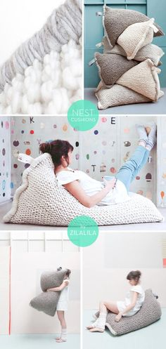 snuggly! NEST Cushions by Zilalila