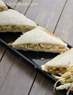 Coleslaw Sandwich recipe | Tarladalal.com | Member Contributed | #14076
