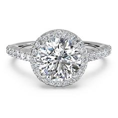 Ritani 18K WhiteGold & Diamond Halo Semi-Mount Engagement Ring...so pretty!