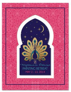 Moroccan Stencil and Painting Retreat in Marrakesh 2014 with Melanie Royals of Royal Design Studio stencils.