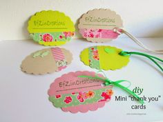 """Ef Zin Creations: Mini """"Thank You"""" Cards"""