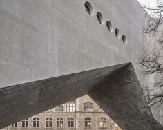 """Christ & Gantenbein unveiled its new wing for the National Museum Zurich. The """"museum factory"""" is an angular and concrete add on that will open to the public in July. Cultural Architecture, Museum Architecture, Roman Architecture, Architecture Wallpaper, Contemporary Architecture, Concrete Architecture, Architecture Board, Commercial Architecture, Zurich"""