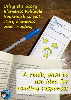 Using the Story Elements Foldable Bookmark - Free resource for use with any novel, for middle school and upper elementary Reading Strategies, Reading Skills, Teaching Reading, Reading Comprehension, Reading Classes, Reading Resources, Teacher Blogs, Teacher Resources, Story Elements
