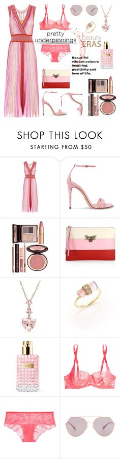 """Untitled #842"" by m-jelic ❤ liked on Polyvore featuring Missoni, Gucci, Charlotte Tilbury, Jacquie Aiche, Valentino, Calvin Klein Underwear and Fendi"