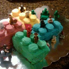 Lego Cake for my brothers Mason's 7th b-day