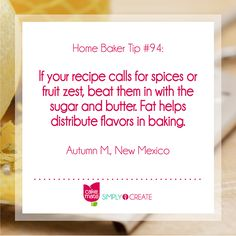 Deliciously sweet tips and recipes are yours for the baking from Cake Mate.