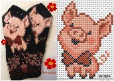 Stricken,  #handschuhestrickenmuster #Stricken Crochet Skull Patterns, Knitted Mittens Pattern, Knitted Gloves, Loom Patterns, Knitting Charts, Knitting Socks, Knitting Stitches, Knitting Patterns, Beaded Cross Stitch