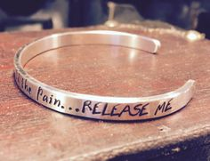 Pearl Jam Hand Stamped RELEASE Sterling by ChunkyPunkyandDinky
