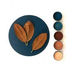 Copper Colour Scheme, Colour Pallette, Copper Color, Black Color Palette, Copper Art, Blue Color Wheel, Teal Colors, Paint Colors, Midnight Blue Color