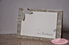 Stampin' Up! Wedding card  lace