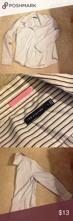 Multi Striped Blouse This blouse has a slight stretch and goes perfect with anything.  An essential staple to have in your closet. The Limited Tops Blouses