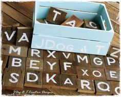 CUSTOM INDUSTRIAL BLOCK LETTERS NUMBERS SCRABBLE SHABBY WOODEN TIMBER RECYCLED