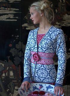 Solveig Hisdal cardigan. Silk/merino. #knit