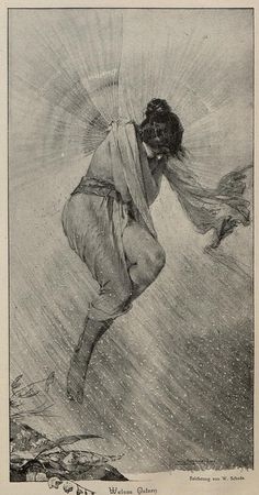W.Schade ~Weisse Ostern [White Easter] from Jugend Magazine,1896
