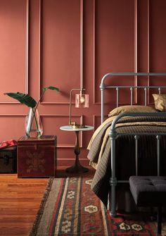 28 super ideas for dark wood bed room decor interior design gray Bedroom Paint Colors, Interior Paint Colors, Paint Colours, Accent Wall Bedroom, Bedroom Decor, Accent Walls, Bedroom Ideas, Bedroom Scene, Budget Bedroom