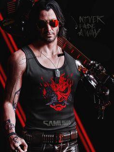 Cyberpunk Games, Arte Cyberpunk, Cyberpunk 2077, Samurai, Keanu Reeves John Wick, Keanu Reaves, Cyberpunk Aesthetic, Game Concept, Night City