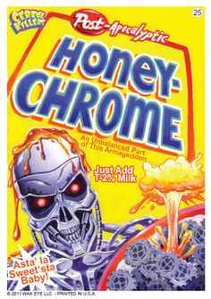 Honey Chrome Cereal Box- ***CEREAL KILLERS**