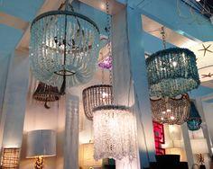 New York International Gift Fair Round Up! Cool Lighting, Lighting Ideas, Ro Sham Beaux, Lighting Concepts, I Love Lamp, Gypsy Caravan, Beaded Chandelier, Living Styles, Table Arrangements