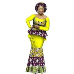 African Clothing Dashiki For Woman O-Neck Full Sleeve Top-Skirt Set Evening Dress Bazin Riche African Dashiki, Evening Dresses Plus Size, Long Skirts For Women, Kitenge, Traditional Outfits, African Style, African Design, Skirt Set, Ankara