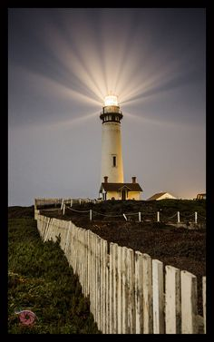 Pigeon Point Lighthouse  coast of California. It is the tallest lighthouse on the West Coast of the United States